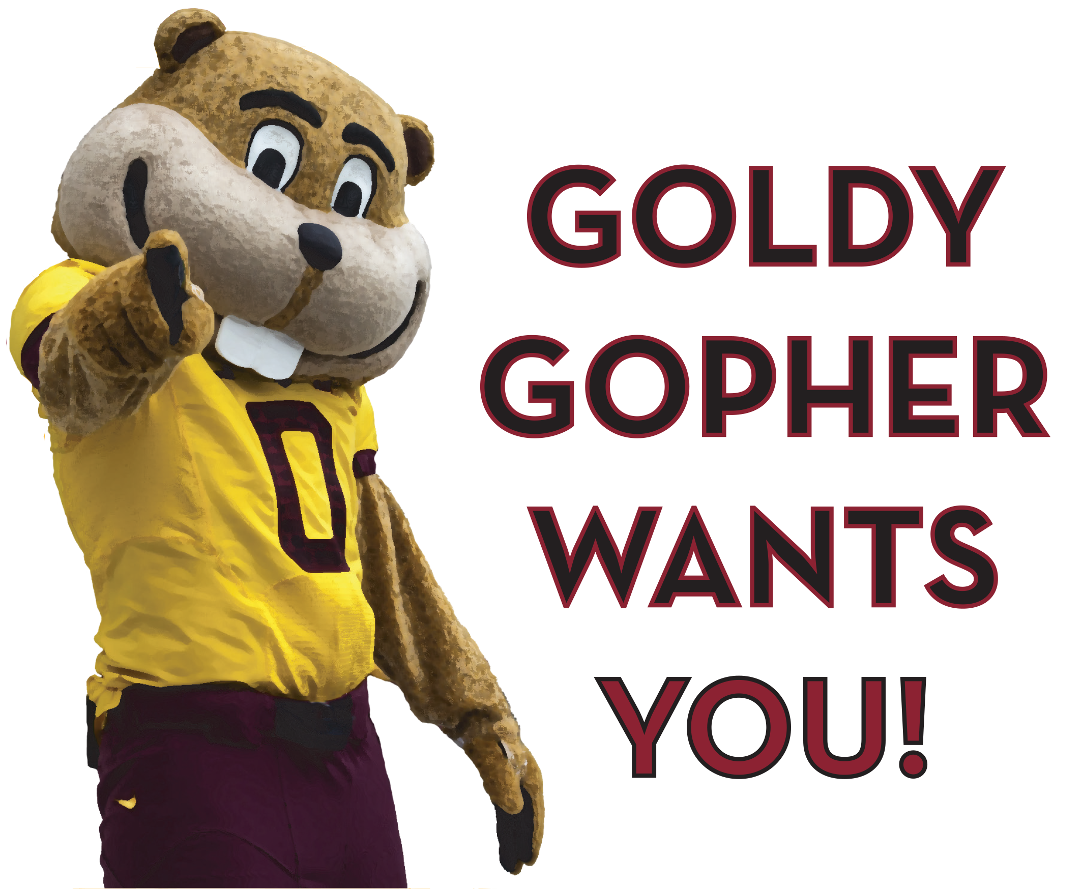 goldy gopher wants you