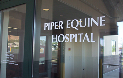 Piper equine hospital building entrance